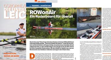 """ROWonAIR® convinces in the association magazine """"rudersport"""" of the German Rowing Association"""