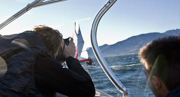 XCAT photo shoot on Lake Traunsee